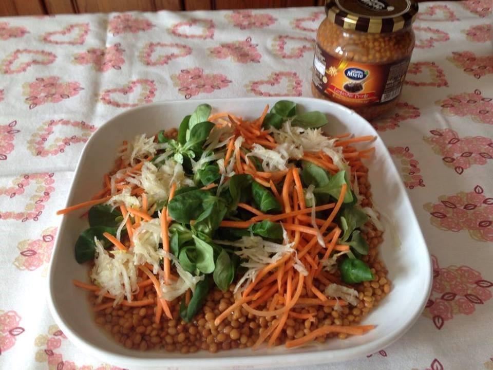 Insalata con lenticchie all 39 aceto balsamico la cucina di for Taglio alla julienne