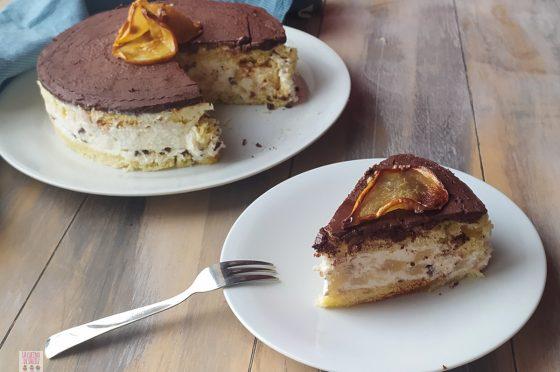 Come riciclare il pandoro: torta ricotta,  pere e cioccolato