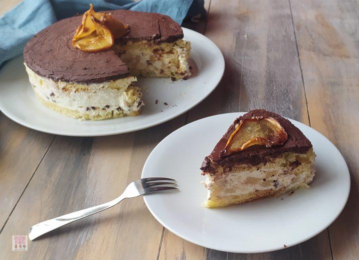 torta ricotta pere e cioccolato