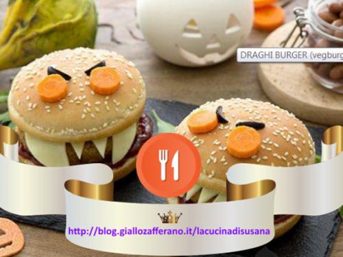 Ricette per Halloween la notte più paurosa di tutto l'anno: draghi burger con galbanino.