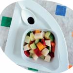 Una ricetta al giorno per Natale e Capodanno: Cubi di verdure al vapore con cubi di grana padano.