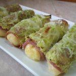 Una ricetta al giorno per Natale e Capodanno: Involtini di verza al prosciutto, con carciofi e porri.