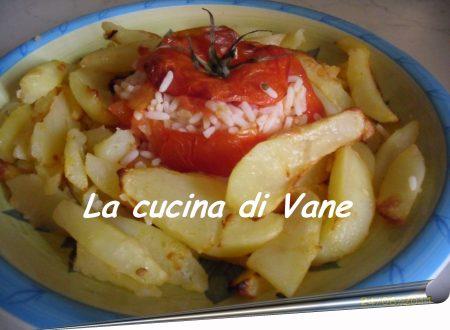 Pomodori ripieni al forno con patate