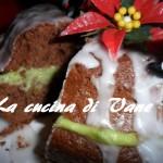 Ciambella al cioccolato con crema di pistacchio e glassa