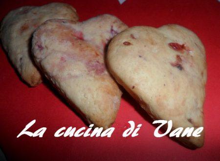 Biscotti cuore ai frutti rossi (proposta per S.Valentino)