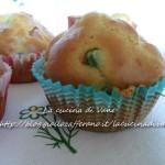 Muffin salati salame e piselli