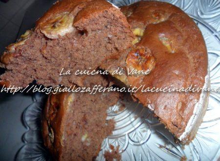 Torta banana cocco e cioccolato