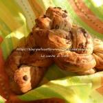 Trecce soffici di pan brioche con gocce di cioccolata