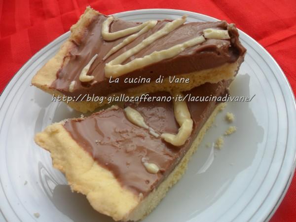 crostata con nutella e mascarpone