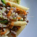 Pasta al ragù bianco di salsiccia e verdurine