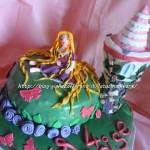 Torta Rapunzel in pasta di zucchero