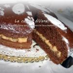 Torta al cioccolato con crema pasticcera