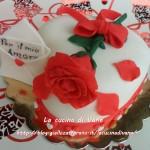Red velvet cake decorata per San Valentino