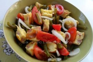 Insalata di frittata e fagiolini | insalata estiva ricetta