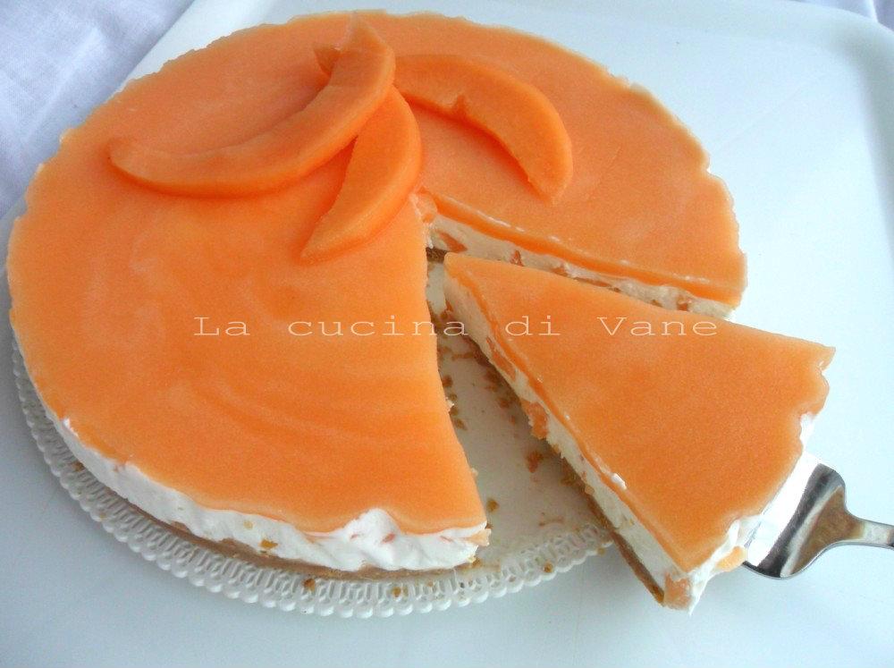 Torta fredda allo yogurt e melone ricetta dolce senza cottura - Cucina con misya ...