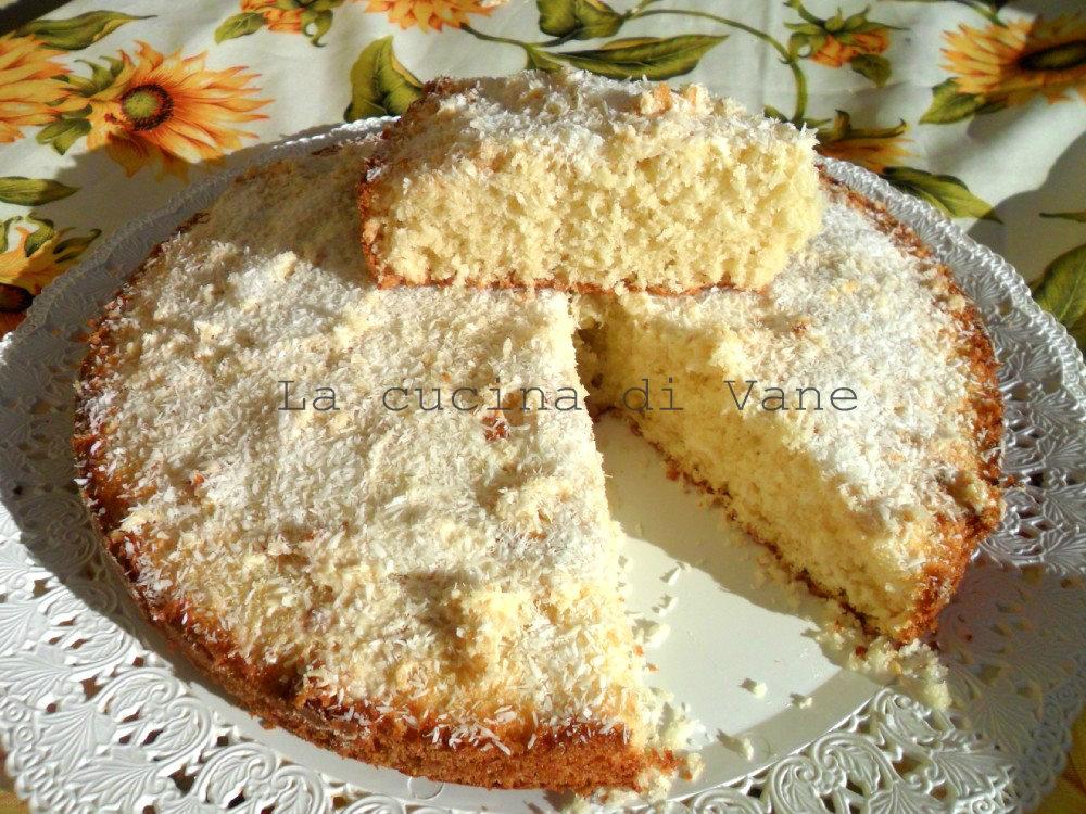 torta al cocco e cioccolato bianco