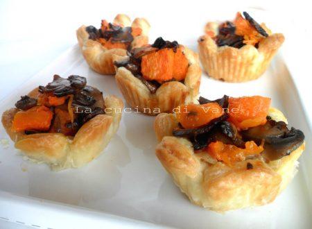Cestini con zucca e funghi ricetta golosa