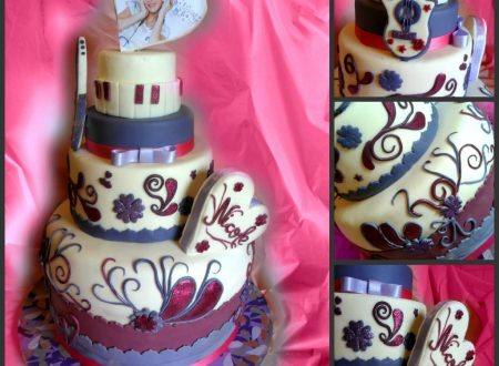 Torta Violetta in pasta di zucchero