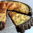 Crostata al cacao con crema all'arancia