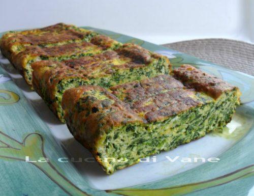 Frittata al forno con ricotta spinaci e zafferano