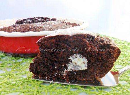 Torta fondente con cuore di cioccolato bianco ricetta con o senza bimby