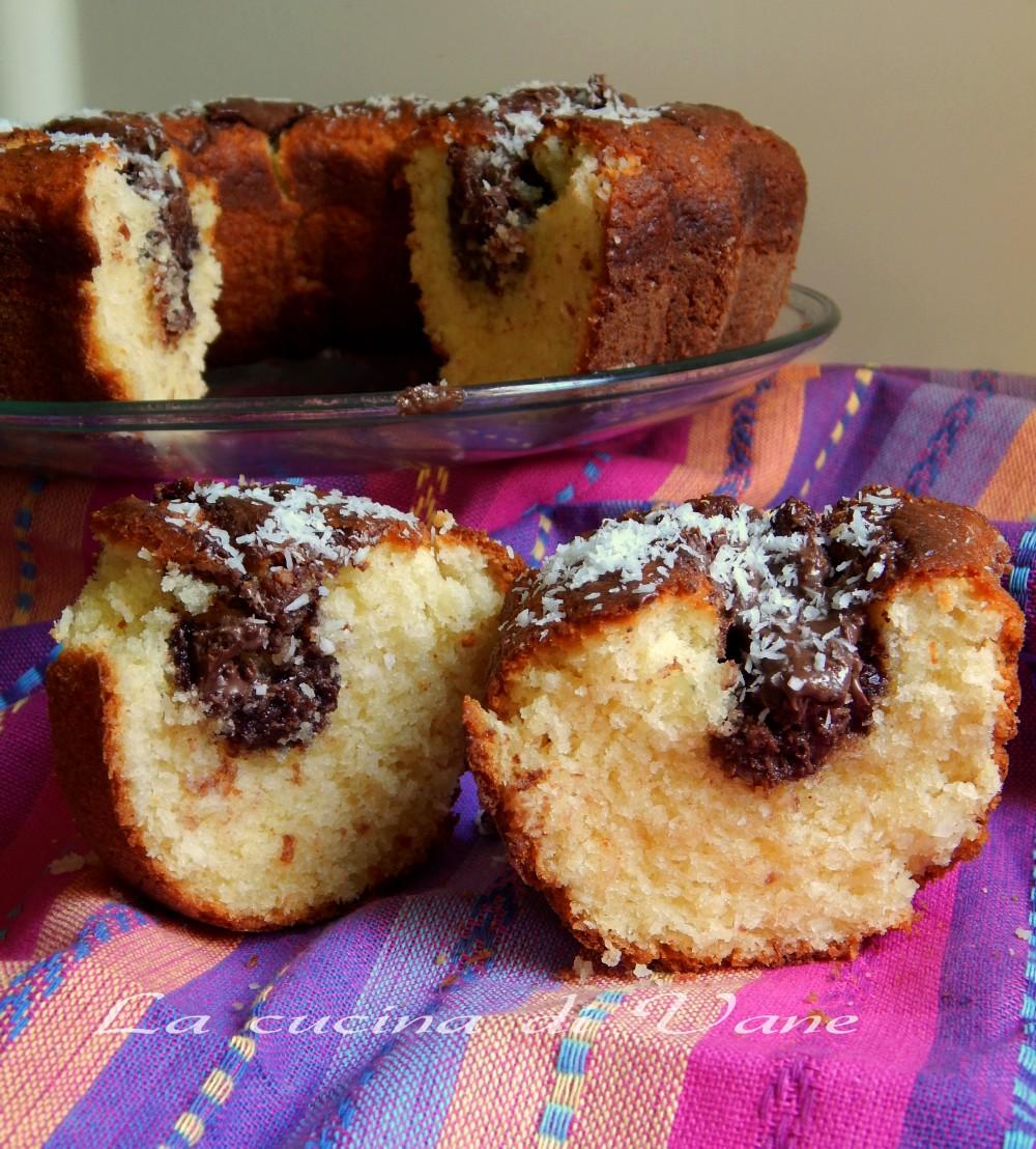 torta ricotta nutella e cocco ricetta golosa