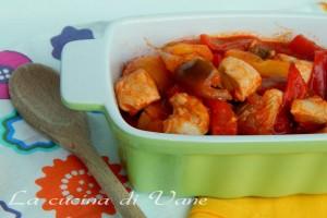 Pollo con i peperoni ricetta romana