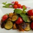 Zucchine e melanzane saporite in padella