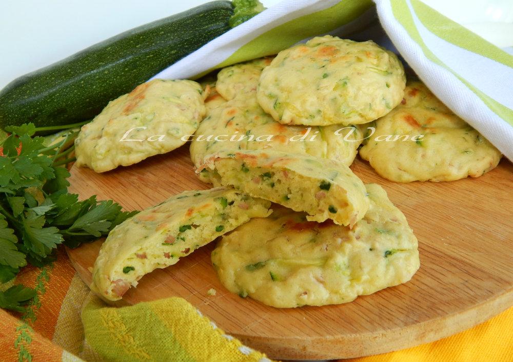 frittelle al forno zucchine prosciutto