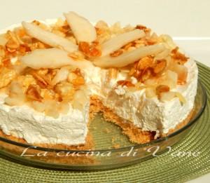 torta fredda ricotta pere