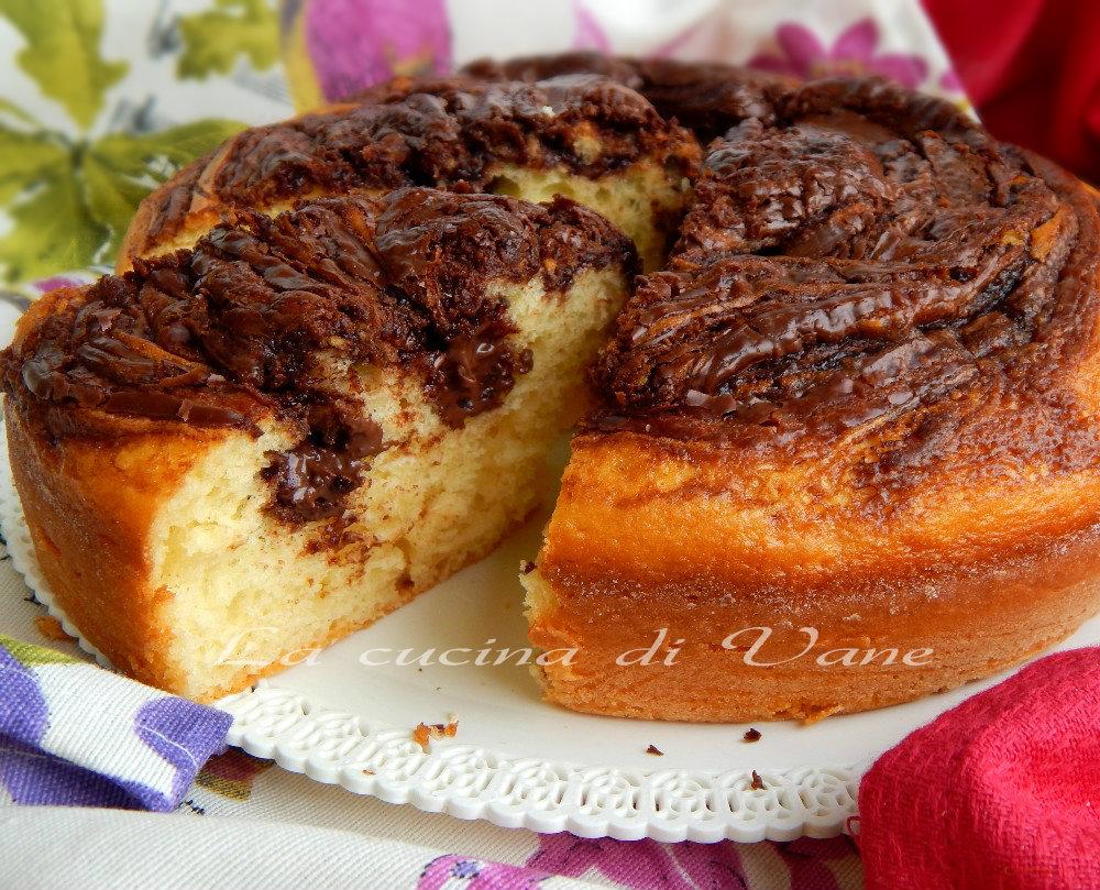 Torta golosa yogurt e nutella con bimby e senza for Ricette bimby dolci