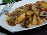 patate funghi e pancetta al forno contorno appetitoso
