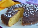 torta rioctta e arancia con glassa al cioccolato