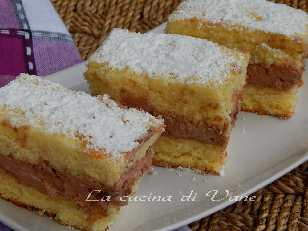 Ricetta torta paradiso farcita con nutella