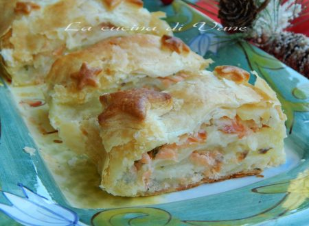 Rotolo patate e salmone in crosta