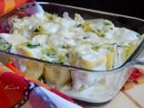 rotolini di lasagne ricotta prosciutto spinaci