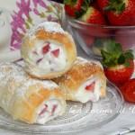 Cannoli con crema di ricotta e fragole