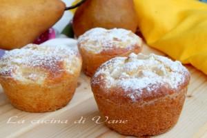 Muffin ricotta e pere senza burro e olio