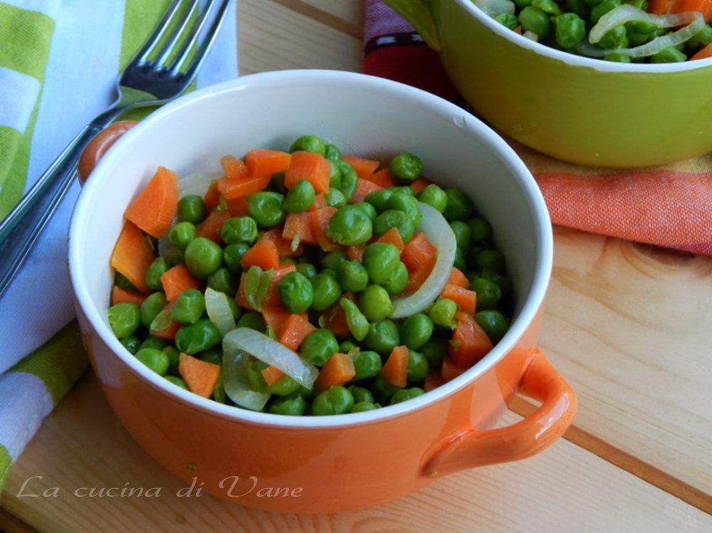 Contorno light di piselli e carote