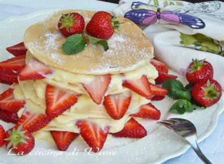 Millefoglie di pancake farcita ricetta golosa