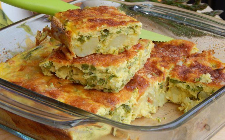 Sformato di ricotta asparagi e patate