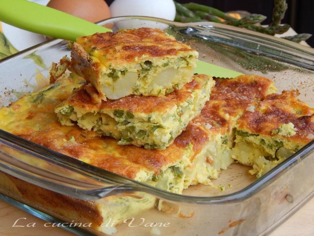 sfornato di ricotta asparagi e patate
