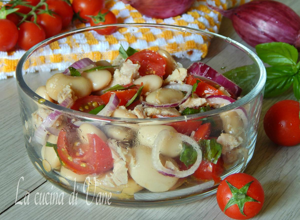 insalata fredda di fagioli e tonno