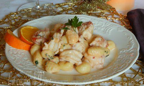 Gnocchi cremosi gamberi e arancia Primo piatto Vigilia