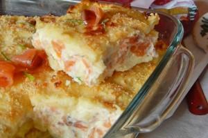 Sformato di salmone e robiola in crosta di patate