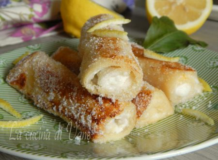 French toast roll ups ricotta e limone