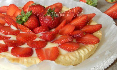 Crostata di fragole con crema al mascarpone
