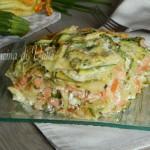 Lasagne zucchine e salmone senza besciamella