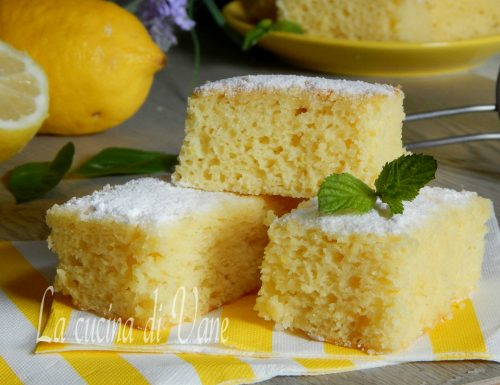 Quadrotti ricotta e limone