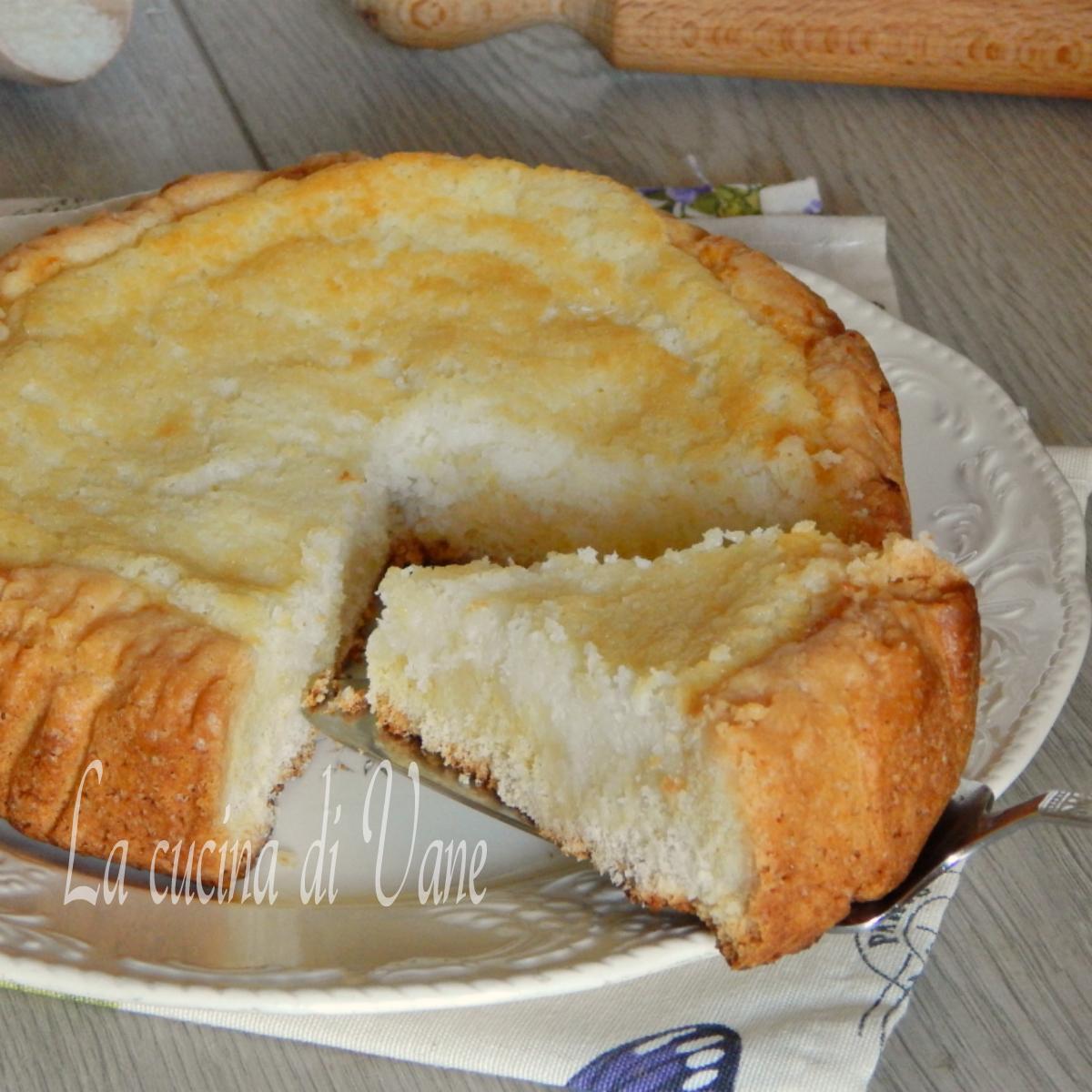 crostata morbida al cocco.